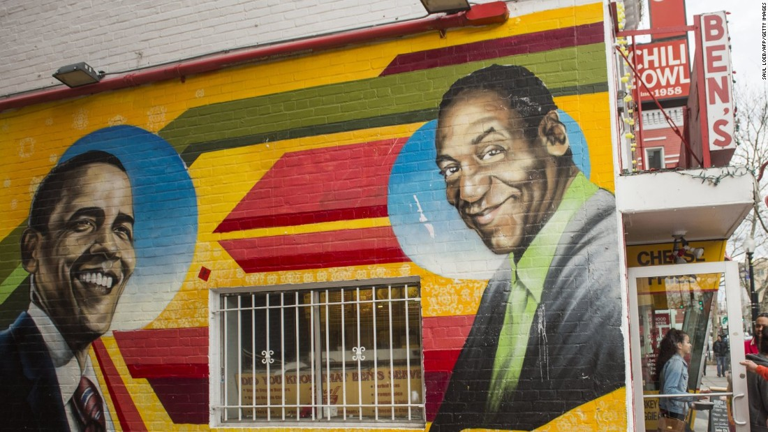DC mural repainted -- without Cosby
