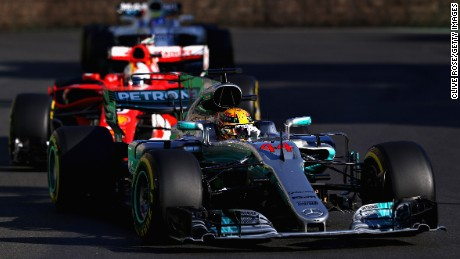 Hamilton and Vettel clashed when the Safety Car was out on track.