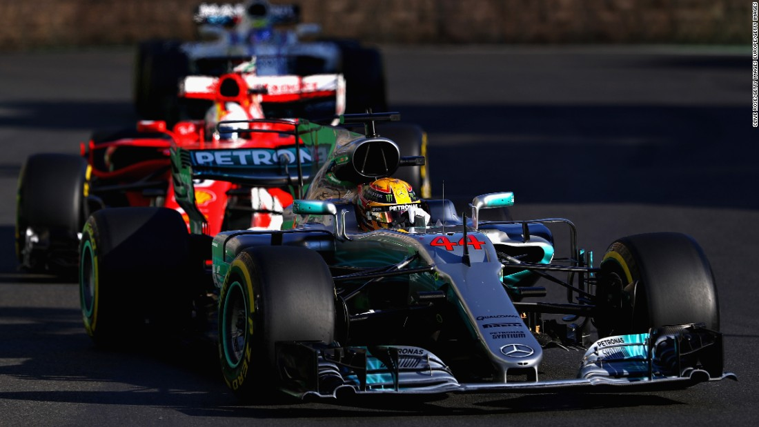 On lap 20 of the race, when the drivers were behind the safety car, Vettel bumped into the back of Hamilton, damaging his front wing in the process. The gesticulating German then pulled up alongside his Mercedes rival and appeared to turn deliberately into Hamilton's car. <br />