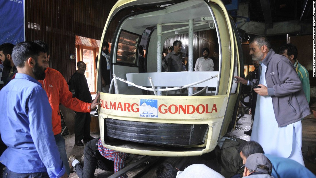 Seven dead in Kashmir cable car accident