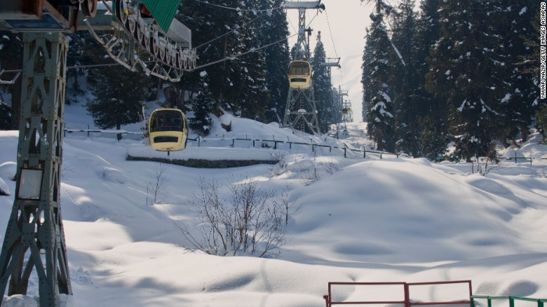 The world famous ski resort of Gulmarg is located less than 6 miles from the ceasefire line or Line of Control (LoC) that divides Kashmir between India and Pakistan