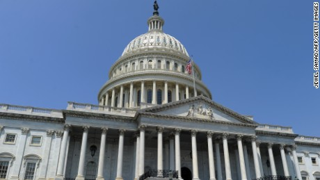 The US Capitol building is pictured in Washington, DC, on July 29, 2011.