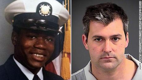 Walter Scott on left and Michael Slager, who pleaded guilty to a federal charge, on right.