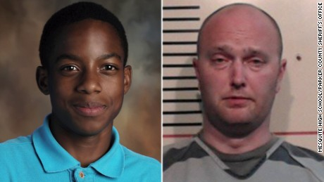 Jordan Edwards on left and Roy Oliver, who is charged with murder, on right.
