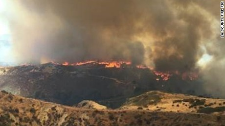 The Placerita Fire has grown to 750 acres with a containment of 50 percent in the Santa Clarita area.  Active evacuation orders remain.  - Los Angeles County Sheriff's Department