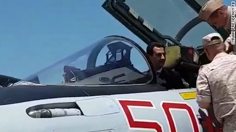 Assad in Russian jet