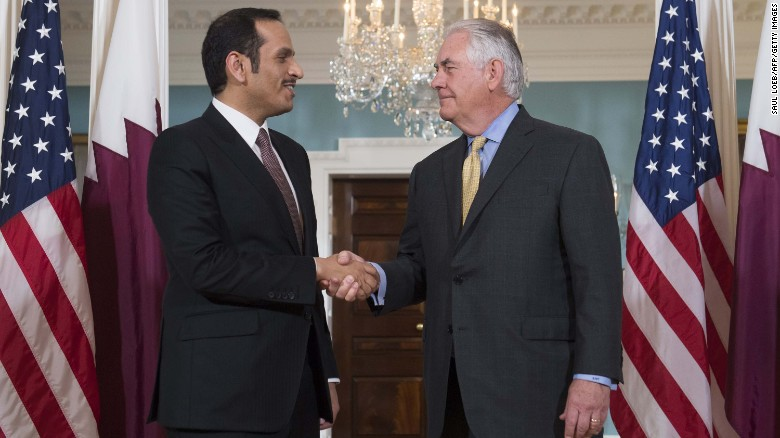 US Secretary Of State Visits Qatar In Attempt To Resolve Gulf Crisis