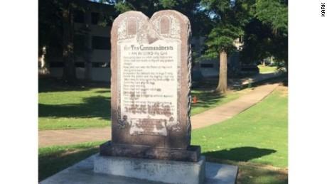 Ten Commandments Monument Installed at Arkansas Capitol
