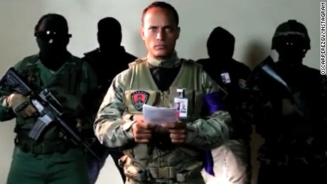 The pilot of the attack helicopter identified himself as Oscar Perez in a video message posted online.