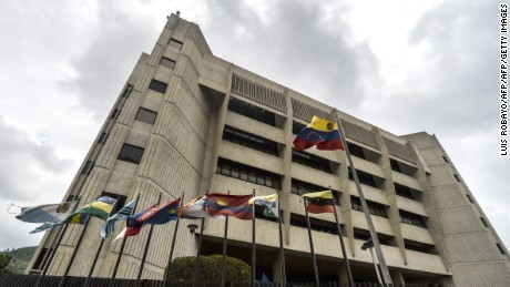 The Supreme Court of Justice headquarters building in Caracas on June 13, 2017. Venezuela's Supreme Court on Monday rejected a legal challenge by attorney general Luisa Ortega against the government's constitutional reform bid in a deadly political crisis. / AFP PHOTO / LUIS ROBAYO        (Photo credit should read LUIS ROBAYO/AFP/Getty Images)