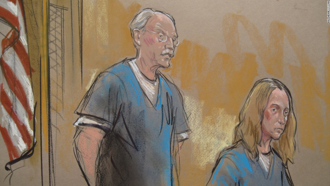 Retired US State Department analyst Walter Kendall Myers, left, pleaded guilty to wire fraud and conspiracy to commit espionage for Cuba in 2009. His wife, Gwendolyn Myers, right, pleaded guilty to conspiracy to gather and transmit national defense information. In 2010 Myers was sentenced to life in prison. His wife was sentenced to 81 months.