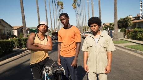 Malcolm Mays, Damson Idris and Isaiah John in 'Snowfall'