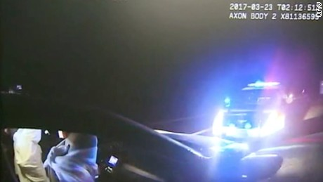 Footage of Oviedo Police Department body camera of the arrest of Karlos Cashe.