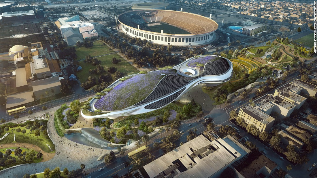 Plans for the Lucas Museum of Narrative Art were unanimously approved by the Los Angeles City Council Tuesday, ending the project's long wait for a home. The design is by Beijing-based firm MAD Architects.