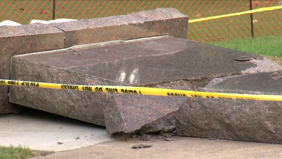 Arkansas Ten Commandments Monument Destroyed  Cnn Video