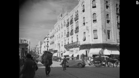 "Weygand Avenue in Beirut, Lebanon, in January 12, 1947. The city was once called the ""Paris of the Middle East""."
