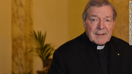 "Vatican finance chief Cardinal George Pell speaks to the media at the Quirinale hotel in Rome on March 3, 2016 at the end of evidence via video-link to Australia's Royal Commission into Institutional Responses to Child Sexual Abuse in Sydney for a second of three days.  Pell insisted he has the ""full backing"" of Pope Francis as he told an inquiry that abuse claims against Australia's most notorious paedophile priest were not ""of much interest"" to him.  / AFP / ANDREAS SOLARO        (Photo credit should read ANDREAS SOLARO/AFP/Getty Images)"