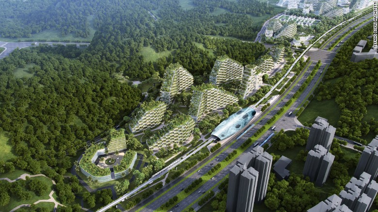 "China's first Forest City, designed by Milan-based <a href=""https://www.stefanoboeriarchitetti.net/en/"" target=""_blank"">Stefano Boeri Architetti</a>, could help the country tackle its air pollution problem."