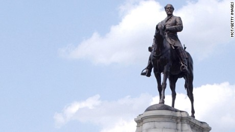 The Gen. Robert E. Lee statue on Monument Avenue in Richmond, Virginia. It was unveiled in 1890.