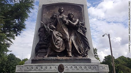 The Confederate Memorial was removed in July from Forest Park in St. Louis.