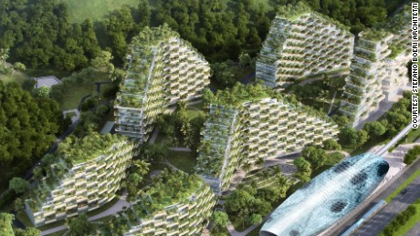 China unveils plans for world's first pollution-eating 'Forest City'