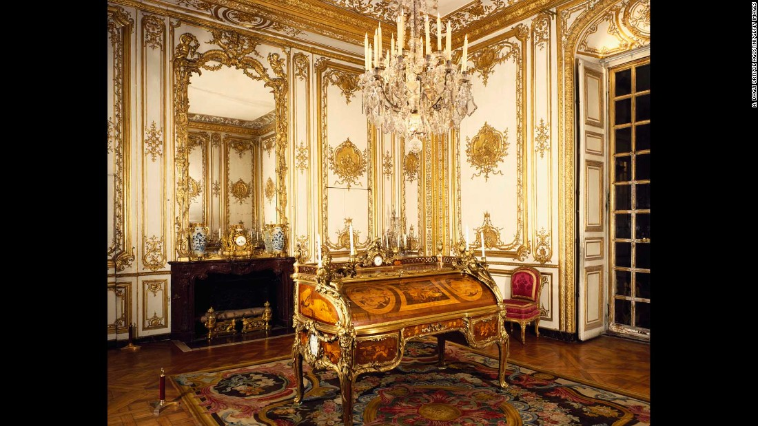 Louis XV's study at Versailles.