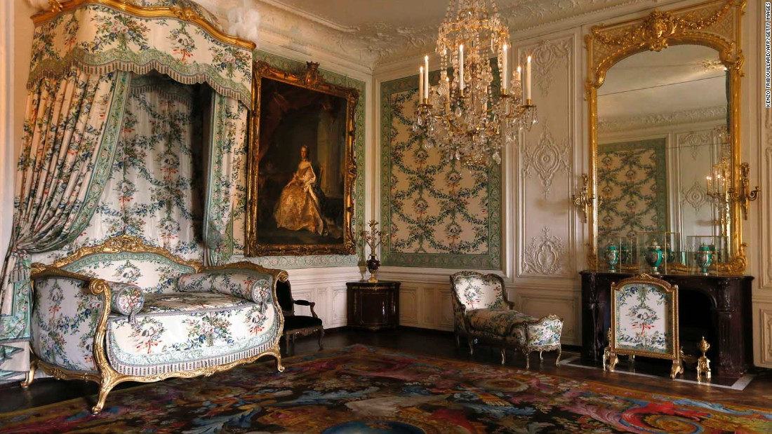 The bedroom of Madame Victoire. This room is part of the newly restored and refurnished apartments of Mesdames, as Louis XV's daughters were known. They were reopened in April 2013.