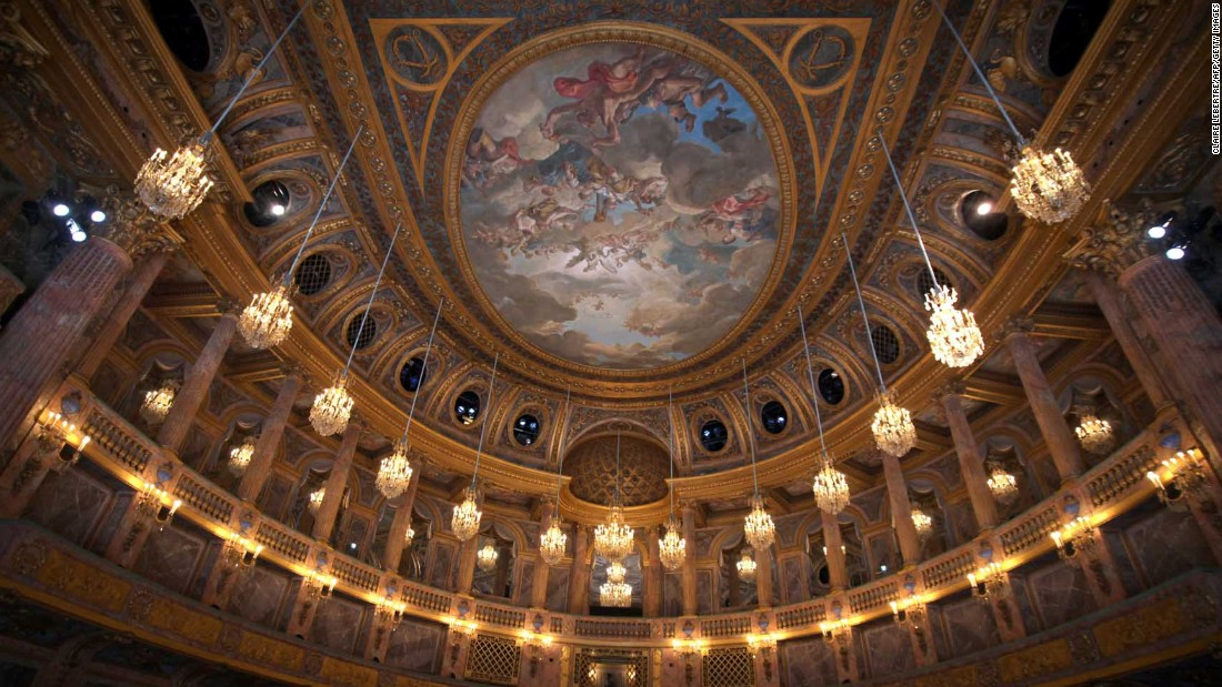 The interior of the Opera Royal de Versailles.