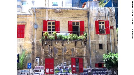 "The renowned 18th-century ""Red House"" in the Hamra district."