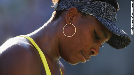 INDIAN WELLS, CA - MARCH 13:  Venus Williams of the United States shows her emotion after her straight set victory against Lucie Safarova of the Czech Republic in their third round match during day eight of the BNP Paribas Open at Indian Wells Tennis Garden on March 13, 2017 in Indian Wells, California.  (Photo by Clive Brunskill/Getty Images)