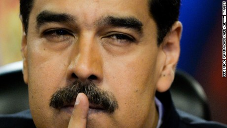 Venezuelan President Nicolas Maduro speaks during a press conference for foreign correspondents at the Miraflores presidential palace in Caracas on June 22, 2017. / AFP PHOTO / FEDERICO PARRA        (Photo credit should read FEDERICO PARRA/AFP/Getty Images)