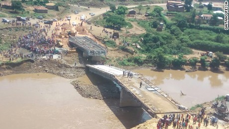 $12 million Chinese-built Sigiri bridge in Western Kenya collapsed before it was completed. President Uhuru Kenyatta inspected the project two weeks before the collapse.