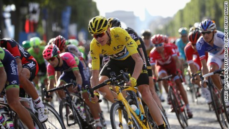 PARIS, FRANCE - JULY 24: Chris Froome of Great Britain and Team Sky in action during stage twenty one of the 2016 Le Tour de France, from Chantilly to Paris Champs-Elysees on July 24, 2016 in Paris, France.  (Photo by Chris Graythen/Getty Images)