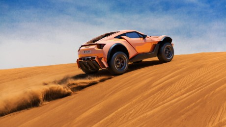 sandracer 500gt enter the dune bashing supercar cnn style