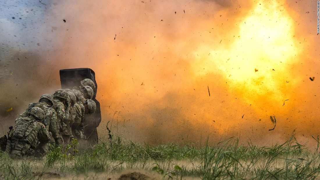 Army engineers conduct demolition training in Bemowo Piskie, Poland, Thursday, June 8. The training is part of Saber Strike 17, a multinational initiative of the U.S. Army designed to enhance the NATO alliance throughout the Baltic region and Poland.