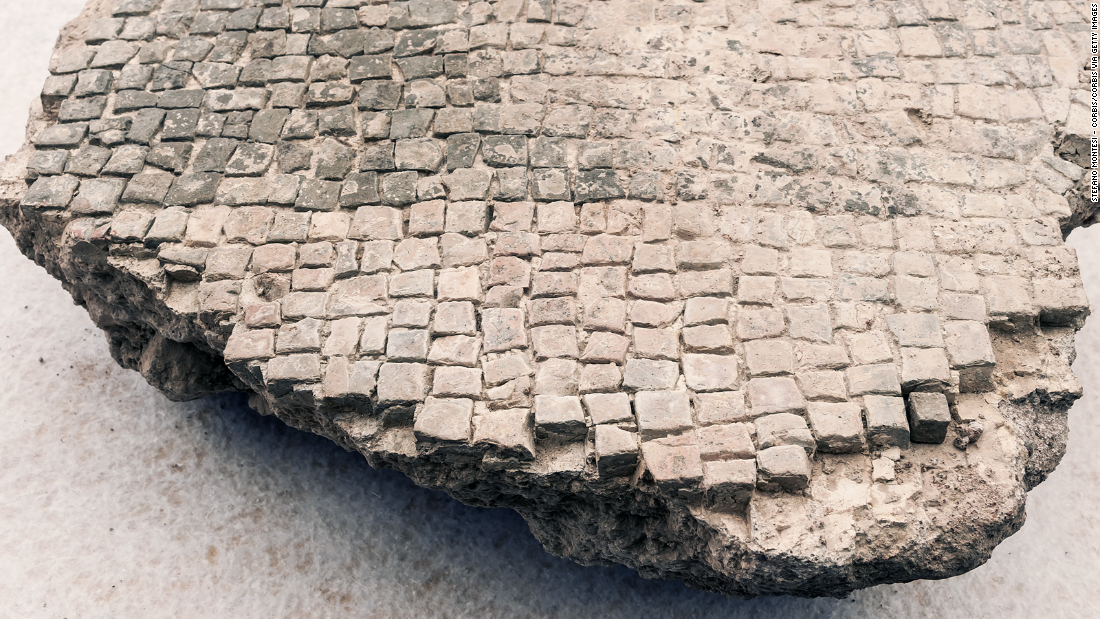 Other finds include a fragment of mosaic flooring...