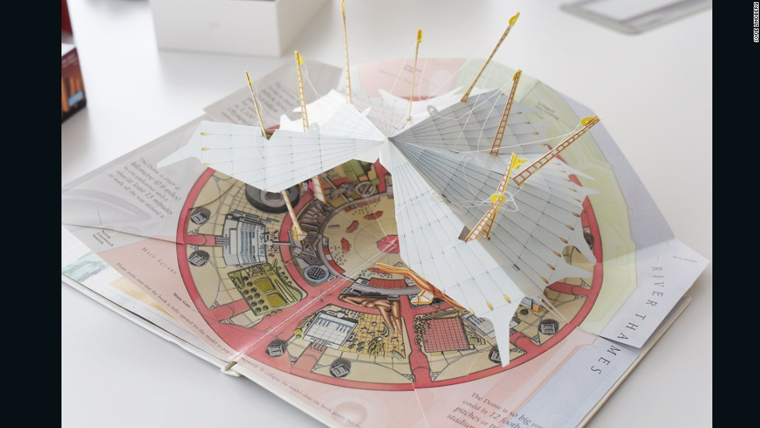 "This cardboard model represents London's Millennium Dome. Opened on January 1, 2000, the Dome was slammed for its spiraling costs and unoriginal museum exhibitions. Considered an <a href=""http://news.bbc.co.uk/2/hi/uk_news/politics/650948.stm"" target=""_blank"">embarrassment</a> for Tony Blair's government, the building was subsequently sold into private hands."