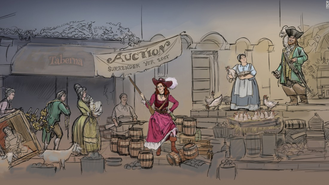 Disney's Pirates Of The Carribean Ride Loses 'Wench Auction'
