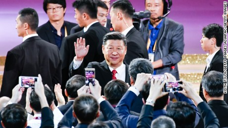 Chinese President Xi Jinping attends a variety show on June 30, 2017 in Hong Kong.