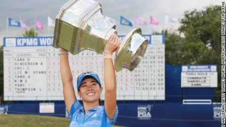 Danielle Kang clinched her first LPGA title at Olympia Fields Country Club, Illinois on Sunday.