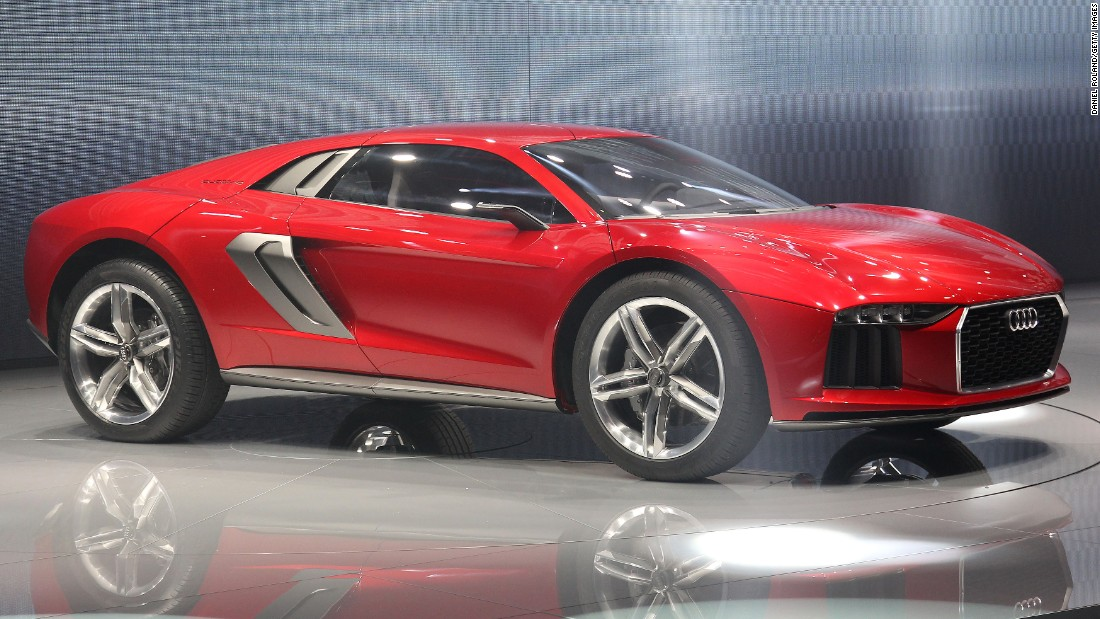 This concept car from Audi, from 2013, features four-wheel-drive and is desert-ready. It has a top speed of 190 mph.