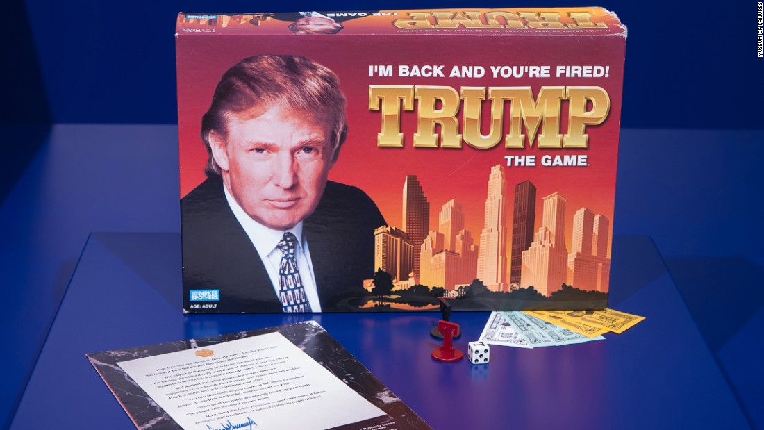 "First released in 1989, ""Trump: The Game,"" was a monopoly-style board game in which players buy and sell property. The board game sold 800,000 copies -- short of the manufacturer's <a href=""http://articles.latimes.com/2004/jul/20/business/fi-trump20"" target=""_blank"">hopes for sales</a> of 2 million units. According to the Museum of Failure's founder Dr. Samuel West, its problem stemmed from its design. ""It was too complex, and no one could understand the instruction manual,"" he said."