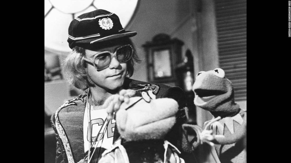 "John appears on ""The Muppet Show"" in 1978. He performed four of his songs on the episode."