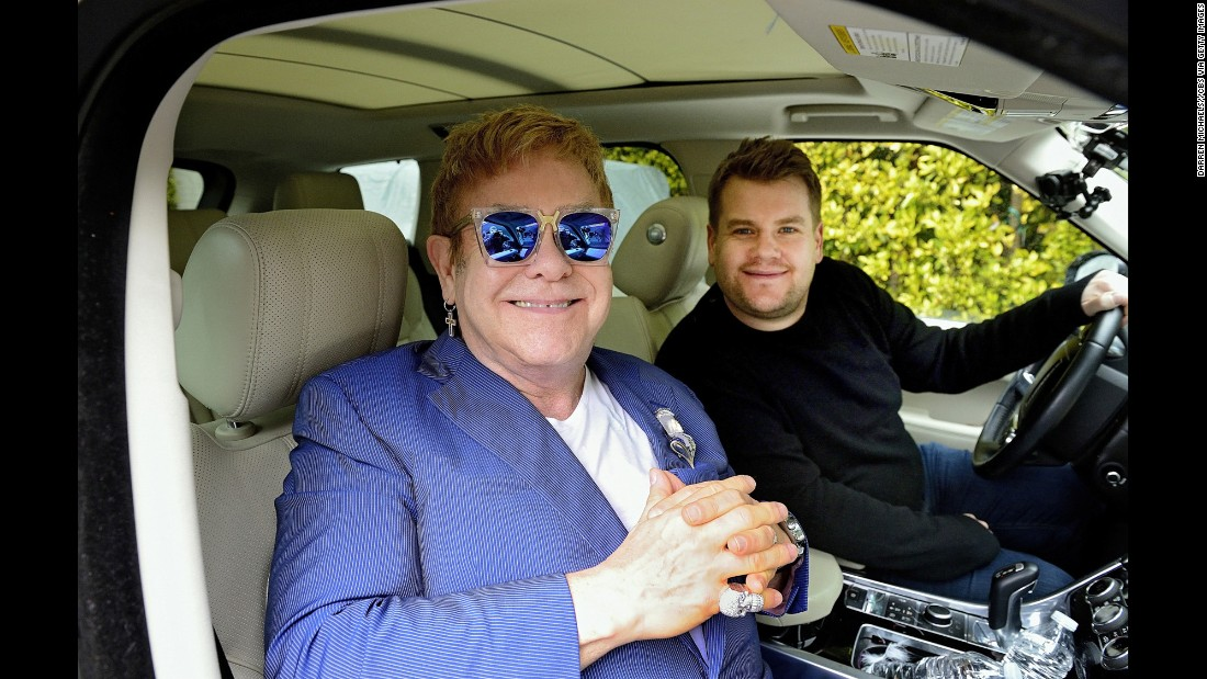 "John joins talk-show host James Corden for a a little ""carpool karaoke"" in 2016."