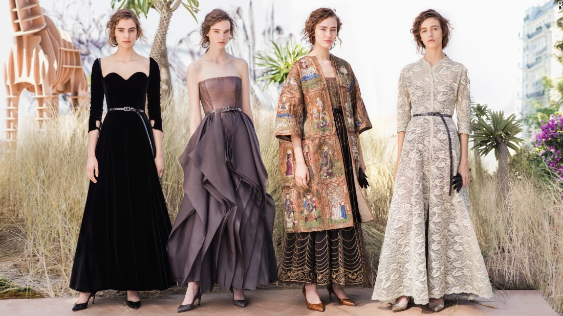 Maria Grazia Chiuri is Dior's first female creative director. This was her second couture collection for the house. While these are still couture clothes, Chiuri is putting forward a more inclusive and approachable proposition for the modern woman.