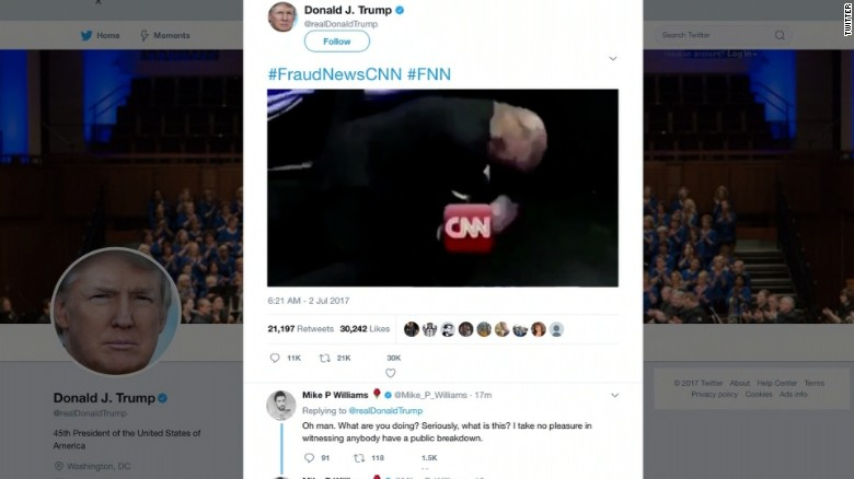 Reddit user behind Donald Trump CNN GIF apologises after being tracked down