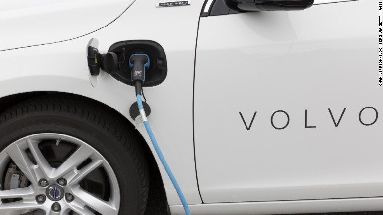 Volvo to make all its cars electric by 2019