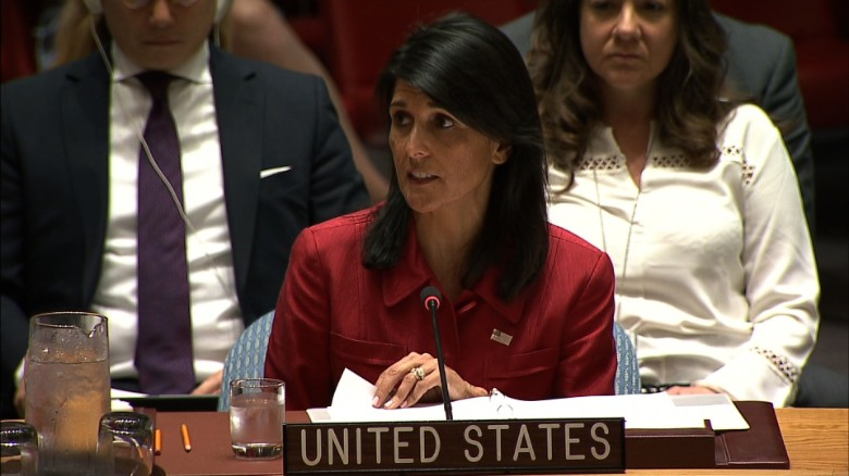 Haley: US will use military forces if we must