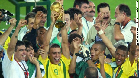 Ronaldo made up for defeat in the 1998 World Cup final by winning in 2002.