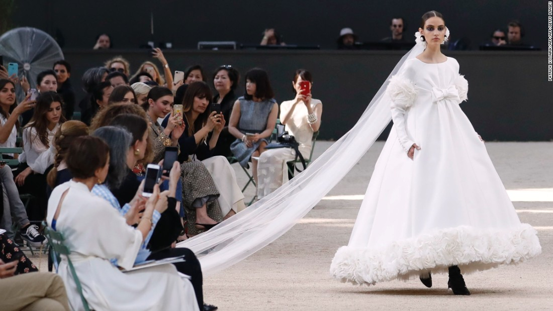 As per tradition, a wedding dress is shown as the final piece on most couture catwalks.